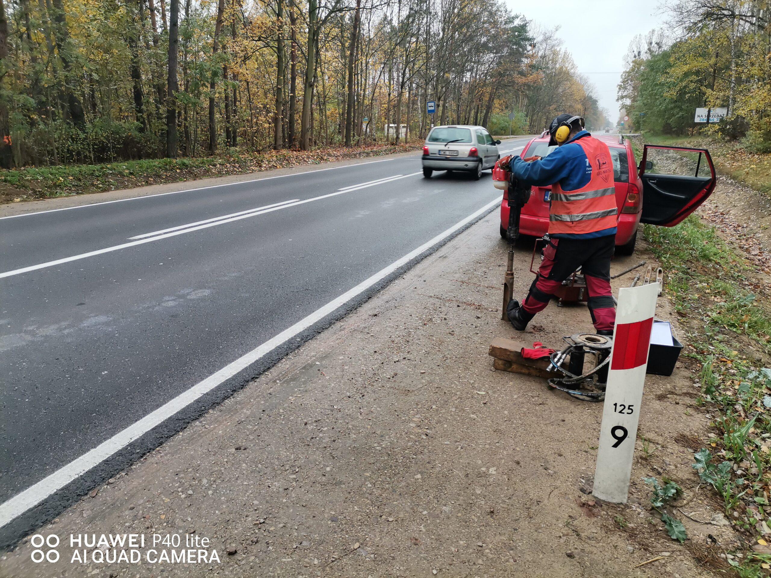 Wsparcie geologiczne (na odcinku drogi DK-62)